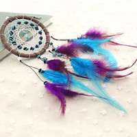 Wholesale Fashion Hot Wind Chimes Indian Style Feather Pendant Dream Catcher Home Decor Hanging Decoration Nice Gift
