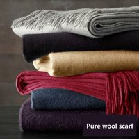 acne designer - new arrival fashion Acne scarf female South Korean small pepper star with a thicker pure wool shawl men and women designer acne Solid