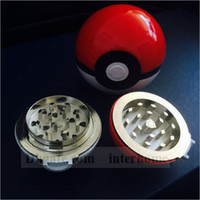 alloy machine - Poke Ball Manual Grinder Poke Go Grinding Smoke Poke Smoking Cigarette Alloy Machine Poke Smoke Grinding Detector Tools With Retail Box B941