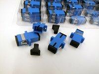 Wholesale New carrier class fiber optic connector adapter SC UPC SM flange singlemode simplex SC SC Coupler