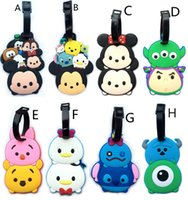 Wholesale Mini Tsum Tsum Mickey Minnie mickey Doll Stitch Cute Elf luggage tag hanging tag