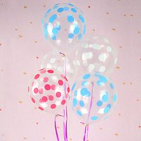 Wholesale 12 inch Valentines Day wedding room decoration atmosphere latex balloon Transparent printing dot children Birthday Christmas Party Balloons