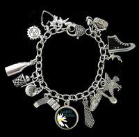alaska bracelet - 6pcs Looking For Alaska Themed phone dream shooting star eagle Charm Bracelet silver tone