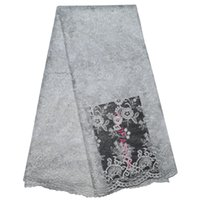 Wholesale by DHL Organza lace African lace fabric Muslim Embroidered swiss voile lace fabric colors