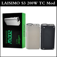 authentic wholesale stylish - Authentic Laisimo S3 W TC Mod with Rotataed Top Screen Stylish Outlook Dual Mod for thread Sub ohm Tanks
