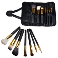 appliance handles - 2016 new Set Make Up Cosmetic Brush Kit Makeup Brushes Wood Handle Case Toiletry beauty appliances makeup brush