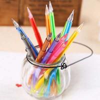 Wholesale 12Pcs Cute Colored Watercolor Pens Diamond Head mm Colors Gel Pen School Office Gel Pen Kid Gifts Stationery