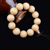beaded cleaning - Authentic wooden bead cliff cypress hand beads Clean color Uniform size Round and round