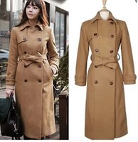 airline suit - 2016 new women s winter long wool coat and temperament after double breasted suit coat when the airline stewardess