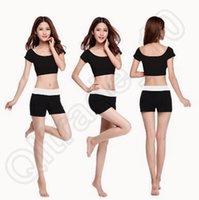 Wholesale 500set LJJC3706 High Quality Candy Color Women Summer Modal Fitness Yoga Suit Short Pants Vest Modal Yoga Pants Dancing Tai Ji Pants Sets