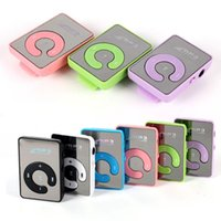Wholesale C Type Mini Mirror Clip USB Digital Mp3 Music Player Support GB SD TF Card Colors