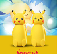 Wholesale Newest cute cartoon Pikachu cups Pikachu vacuum cup children s cartoon cup creative gift stainless steel cups