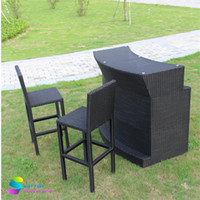 Wholesale Outdoor furniture chairs outdoor bar table Bar chair combination rattan
