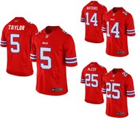 authentic bills - 2016 New Men s Cheap Buffalo football jerseys Bills Taylor Watkins McCoy Red Color Rush Limited Jersey authentic Soccer rugby shirt