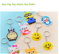 Wholesale home arts key ring key chains cartoon shapes key finder MOQ plastic love style fast shipment