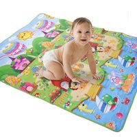Wholesale Dreamland Sunshine Beach Patterns Baby Gym Play Mat Game Crawling Blanket Hot Selling