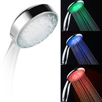 bath change - Automatic color changing lighted Colors LED Shower Head Waterfall ABS Plastic Round Single Shower Head Bath Sprinkler