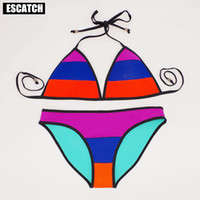 Wholesale Brand New Colorful Bikini women crochet Swimsuit Brazilian Bikini Crochet Swimwear Neoprene Bikini For Girl