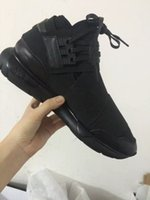 Wholesale NEW Upgraded Y3 Mens Womens Classic Sneaker Y QASA High Genuine Leather Couple Sneakers Lovers Casual Shoes Free EMS DHL