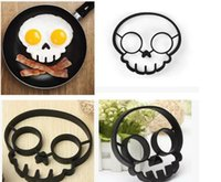 Wholesale Food grade silicone Novel Trendy Silicone Skull Owl Rabbit FRIED Silicone Fried Egg Mold Pancake Egg Cooking Tool