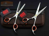 Wholesale Professional Styling tools brand KASHO sharp black inches hair scissors hairdressing barber shears