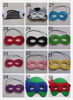 best teenage parties - 2016 Children kids Halloween Cosplay Mask felt shipping Party Masquerade Felt Decoration Superhero Cape Performance Best Gift