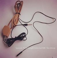 Wholesale 5pcs Full sets covert spy wireless Earpiece With Loopset Neckloop x batteries GSM Earphone Earbud External MIC