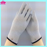 Wholesale DHL pairs a Conductive gloves for electronic muscle stimulator massage gloves for health