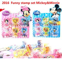 Wholesale Cartoon children s lovely stamp set DIY Funny Work Super Gifts DIY rubber stamp price set