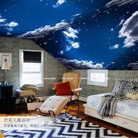 backdrop designer - Modern D Wallpaper Blue sky White clouds Photo Wallpaper Bedroom Living Room Decor TV Backdrop Wall Mural Designer Wallpaper Landscape