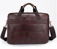 Wholesale Men Bag genuine leather handbag Computer package bags Casual man bags men s messenger bag laptop business Briefcase tote