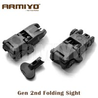 airsoft gun targets - Armiyo Airsoft Shooting Targeting nd Gen Front Rear Folding Mechanical Scope Hunting Riflescope Guns Sights Black with Key