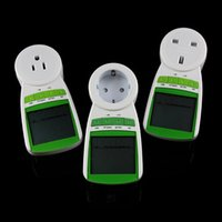 Wholesale New US Plug Power Energy Watt Volt Amps Meter Analyzer Electricity monitor V Hz Hot Sales