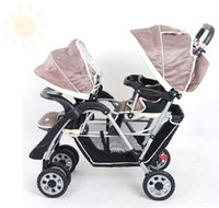 Wholesale Factory Twins Two Baby Safety Foldable Sunshade Multi Function Professional Light Rollover Prevention Shock Proof Infant Baby Stroller