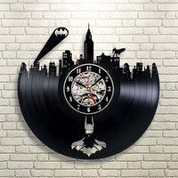 Wholesale Batman Gotham City Logo Best Wall Clock Decorate your home with Modern Large Superhero Art Gift for friend