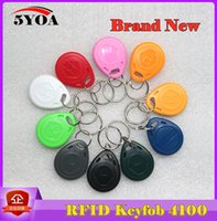 Wholesale 10pcs RFID Tag Proximity ID Token Tags Key Keyfobs Ring Khz RFID Card Chip ID em4100 for Access Control Time Attendance