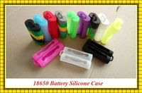 Wholesale Silicone Case bag for Batteries Silicone Cases Mix Colors Replaceable dual Battery Cover Rubber Skin Protector Fit Battery