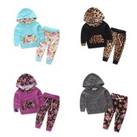 Wholesale 2016 New Autumn Winter Newborn Baby Clothes Girls Clothing Set Baby Girls Clothes Hooded Tops Pants Girls Set Girls Outfits Kids Suit