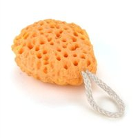 Wholesale KSOL Hot Sale Orange Bath Shower Spa Body Cleaning Sponge Scrub Scrubber Exfoliator