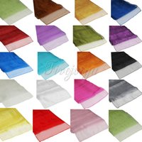 table chair - 19 Colors Soft Sheer Fabric Organza Table Runner x108 quot x275cm Chair Bows Swag Wedding Event Xmas Party Banquet Table Decor