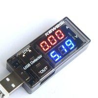 Wholesale USB Detector Current Voltage Tester USB Voltage Ammeter USB Detector Double USB Row Shows