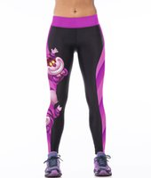 alice m - NEW Sexy Girl Women Alice in Wonderland Cheshire cat D Prints High Waist Running GYM Tights Fitness Sport Leggings Yoga Pant