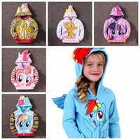 Wholesale My Little Pony Hoodies Fashion Girls Big Size Children Outerwear Pony Jackets Coat Zipper Hoodies Clothing Roupas Infantil Big sizes