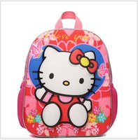 Wholesale The new d hello Kitty hello Kitty bag kindergarten cute cartoon backpack to years of age of the girls