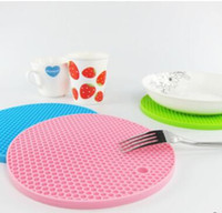 Wholesale Newest Table Mats mix Colors Non Slip Heat Resistant Mat Coaster Cushion Placemat Pot Holder Table Silicone Mat Kitchen