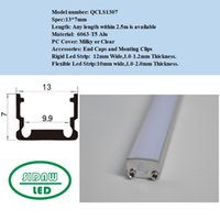 Wholesale 15pcs m x m Aluminum U Led strip profile for mm width PCB led housing strip QC1307