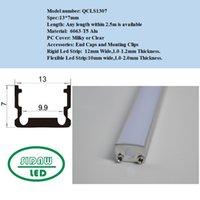 Wholesale 15pcs m x m Aluminum U Led strip profile for mm width PCB led housing strip QC1307