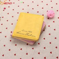 basic credit card - 200PCS New Women Basic Short Design Purse Fashion Card Holder Protector Leather Wallets Color Arrives