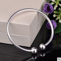 barrel cuff - Fashion European Women Silver Plated Bracelet Bangle Barrel Clasp fit for Chamilia Bead