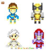 Wholesale The Avengers X Men Wolverine Magneto Figures Model Toys set Child Christmas gift Anime Building Blocks Loz